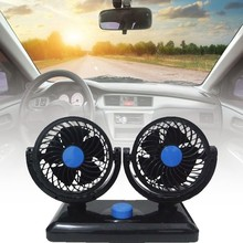 12V 24V  Car Fan Single/Double 360 Degree All-round Adjustable Car Auto Air Fan Cooler  Low Noise Auto  Accessories mute leafless air conditioning fan universal car electric fan adjustable vehicle turbofan car cooler for baby low noise