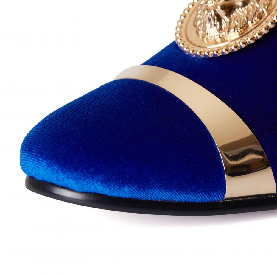 Lujo Zapatos De Vestir De Oro Para La Boda Embellecimiento - Vestido ...