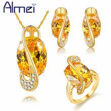 Комплект ювелирных изделий almei для женщин комплект золотистого