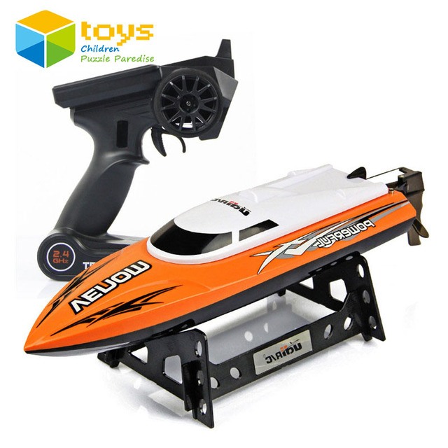 RC boat remote control electric motor ship Infinitely variable speeds high speed racing boat water cooling 32CM 25km/h 2.4G Gift