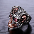 Hot sale 925 sterling silver rings for participants in The fashion and personality of silver skull rings Retro Skull Ring