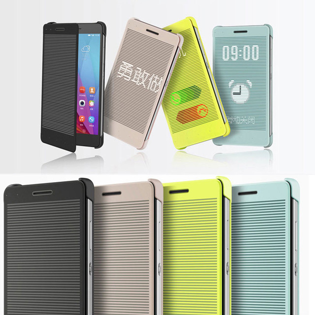 more photos 146b5 48c3c US $6.75 |mosunx Windows Smart Flip cover case for Huawei Honor 7 phone  Case Cover Covers Cases mobile-in Phone Bumper from Cellphones & ...