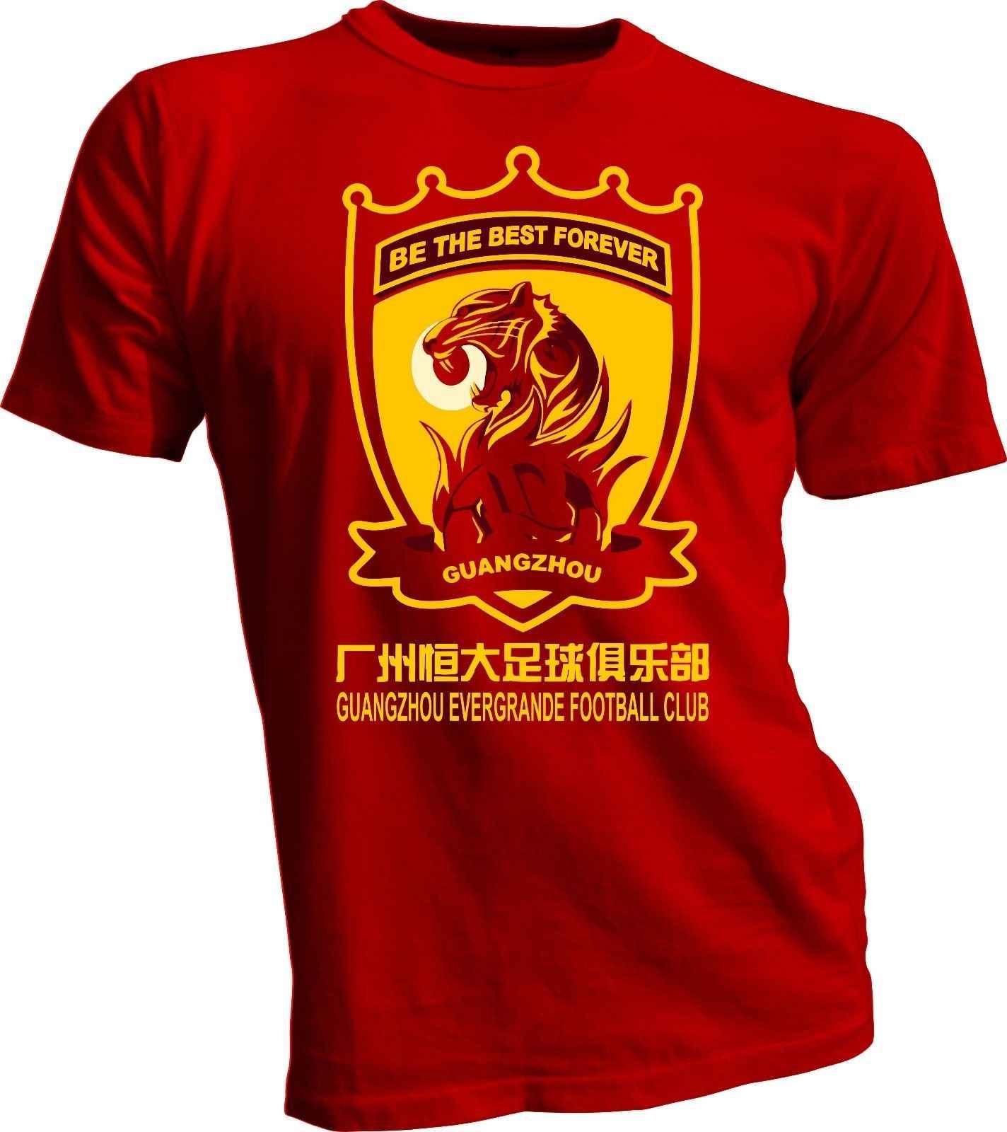 قوانغتشو إيفرغراندي تاوباو الصين CSL كرة القدم كرة القدم الحمراء تي شيرت جديد