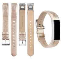 for Fitbit Alta HR Replacment Band Gold Silver Leather Wristband Strap For Fitbit Alta hr Bandje Genuine Leather Bands Women