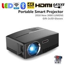 EU/US/UK/AU Plug 4K HD 1080P Wifi Wireless Projector LED And