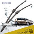 "Wiper blade for Alfa Romeo 147 (2005-2009) 22""+16"" fit side pin type wiper arms only HY-006B"