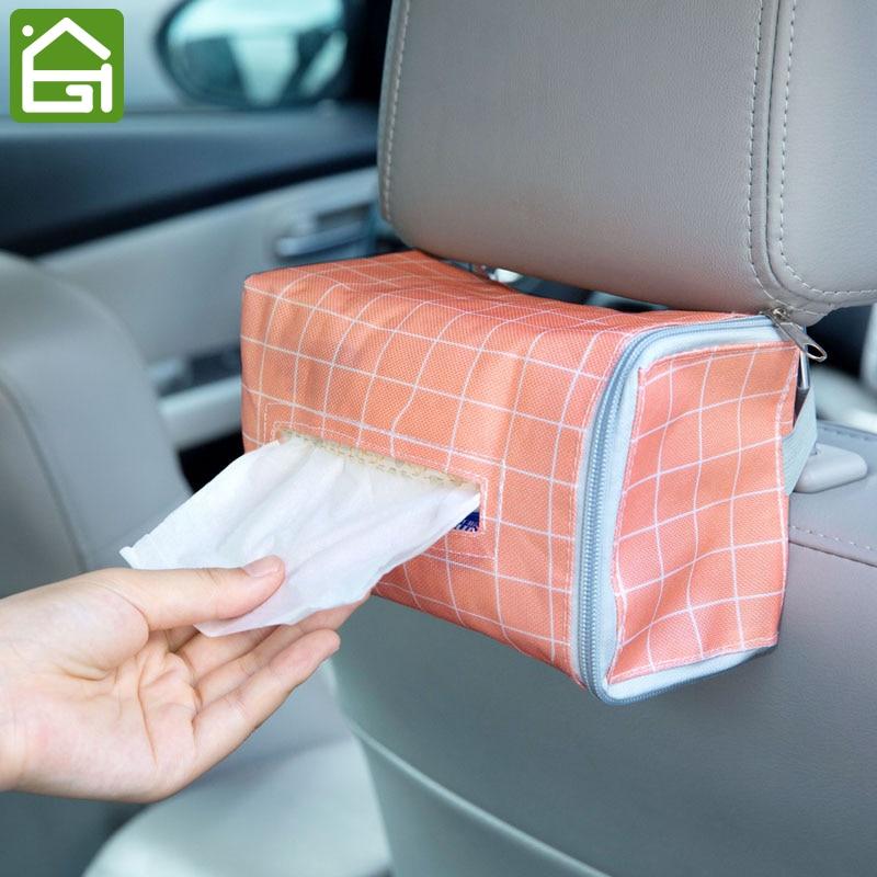 Car Seat Back Tissue Paper Organizer Box Travel Napkin