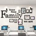 Настенные наклейки для семейного офиса  3D акриловые DIY фоторамки  наклейки  настенные наклейки для офиса/гостиной  2019
