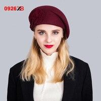0926XB帽子&キャップベレー女性ウールキャスケットキャップ国ベイカー少年アイビーフラット女性かわいい英国オーストラリアキャップboina XB-D657