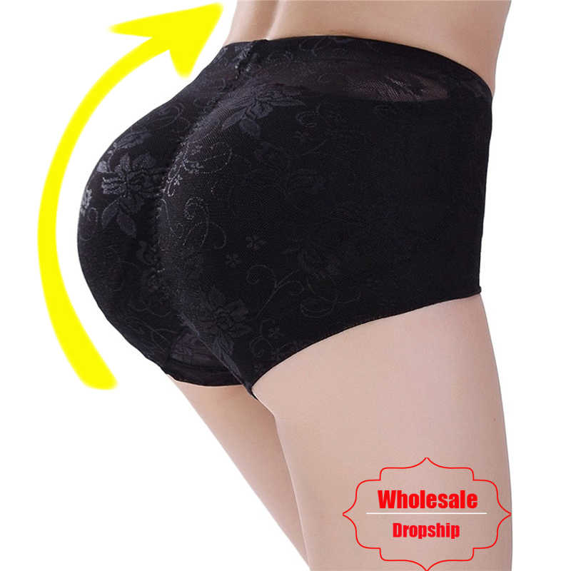 95973ad5ef586 NINGMI Padded Pants Shaper Seamless Big Ass Control Panties Buttocks Push  Up Lingerie Women Underwear Butt