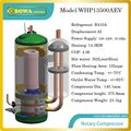 Компрессор теплового насоса 14 кВт может производить 302л/ч горячей воды и подходит для напольного отопления 102sqm