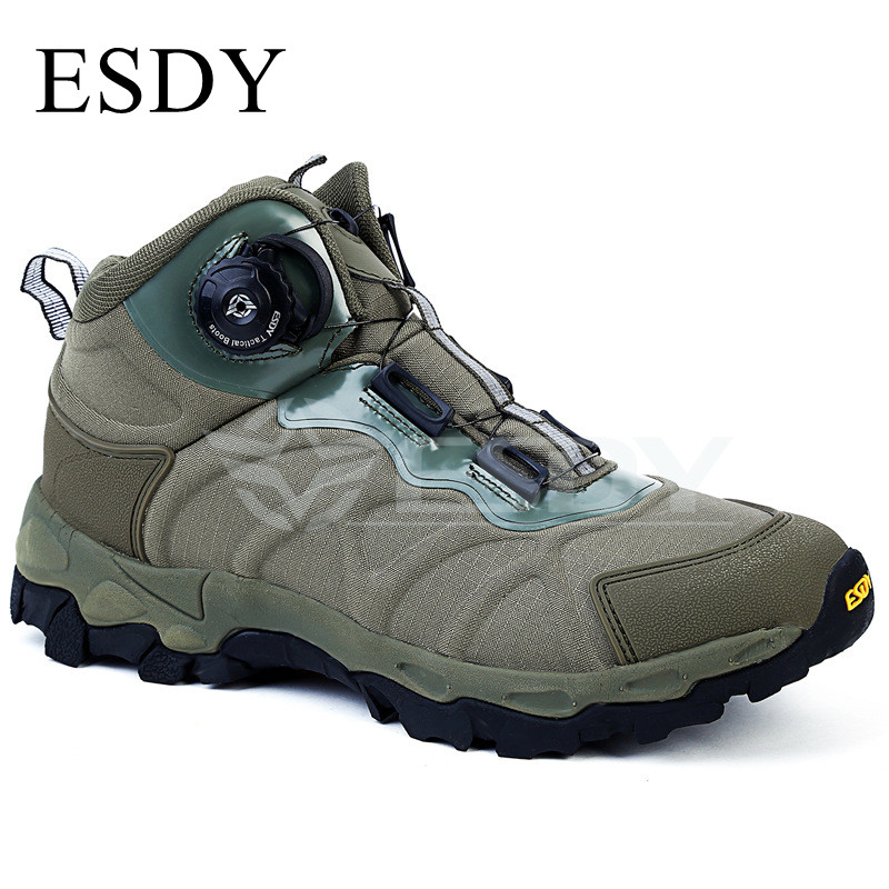 Men Outdoor Hunting Hiking Desert Tactical Ankle Shoes Winter Military Combat Lacing Breathable Sneakers Quick Anti-assault Boot