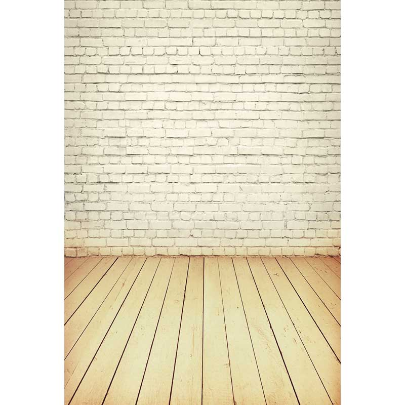 Thin vinyl wood floor and white bricks photography backdrops background photo studio wallpaper decoration backdrop  F-2815 black and white grids floor photography background hollow vinyl photo backdrops for photo studio funds props cm 4785