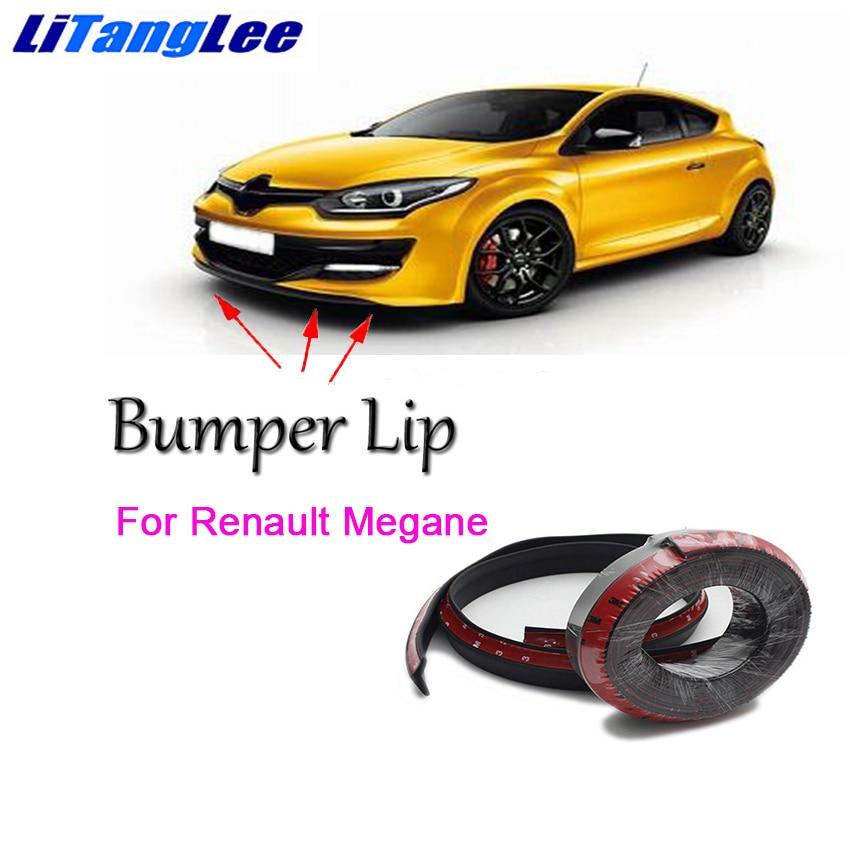 Litanglee for Renault Megane Front Bumper Lip Car Rubber