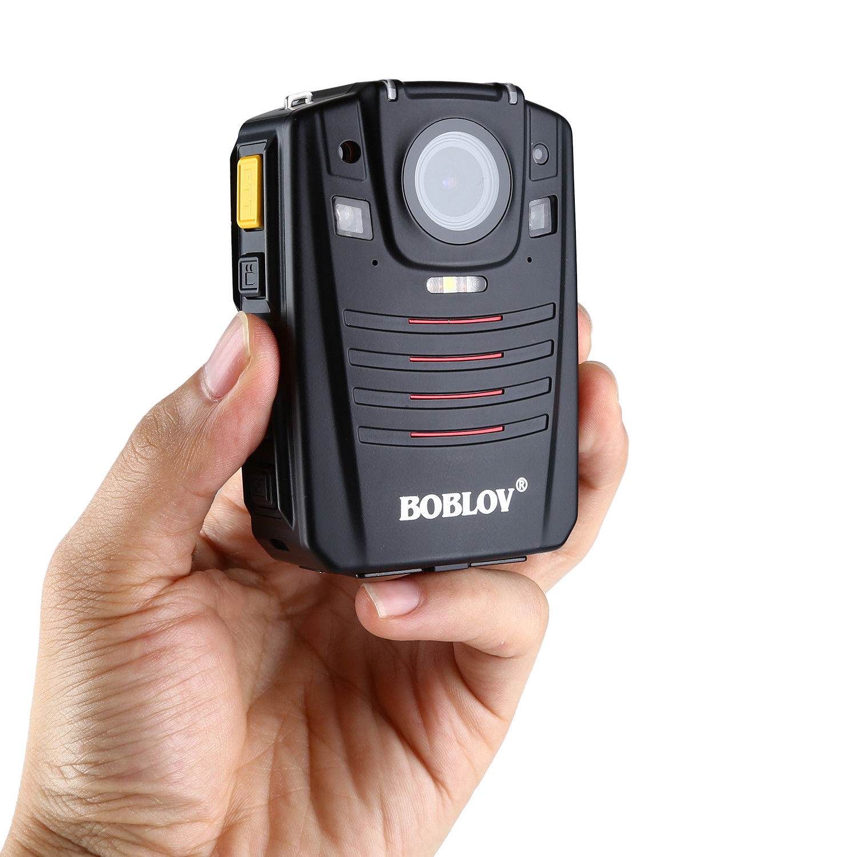 Image 2 - BOBLOV HD66 07 Body Police Video Camera 2 Batteries DVR 64GB Law Enforcement Cam 16X digital zoom 170° Wide Angle Pocket CameraSurveillance Cameras   -