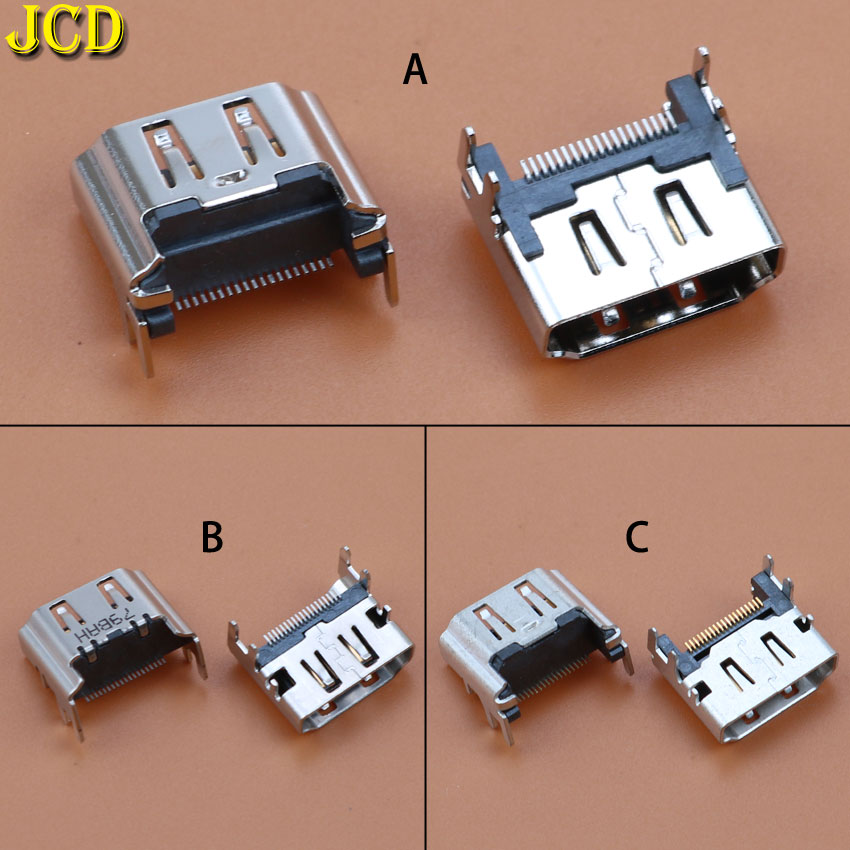 JCD 1pcs For Sony Playstation 4 for PS4 HDMI Port Socket Interface Connector slot replacement-in Replacement Parts & Accessories from Consumer Electronics