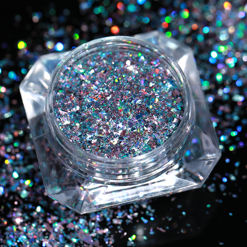 Image 5 - BORN PRETTY 1g Holo Laser Flakes Shiny Nail Sequins Holographic Glitter Powder Paillette 3D Nail Art Decoration DIY Manicure-in Nail Glitter from Beauty & Health