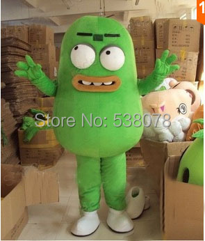 Green Germ Bacterium Mascot Costume Adult Size Cartoon Character Mascotte Mascota Outfit Suit Fancy Dress SW475