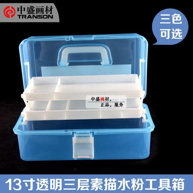 Box Di Plastica Vendita.Vendita Calda Di Plastica Box Container Adulti Vernice Scaffale Utensili Schizzo Di Immagazzinaggio Box 3 Pavimenti Pittura Box Rifornimenti Di