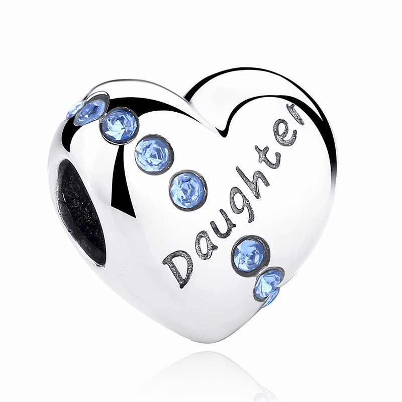 Silver Family Charm Beads - daughter