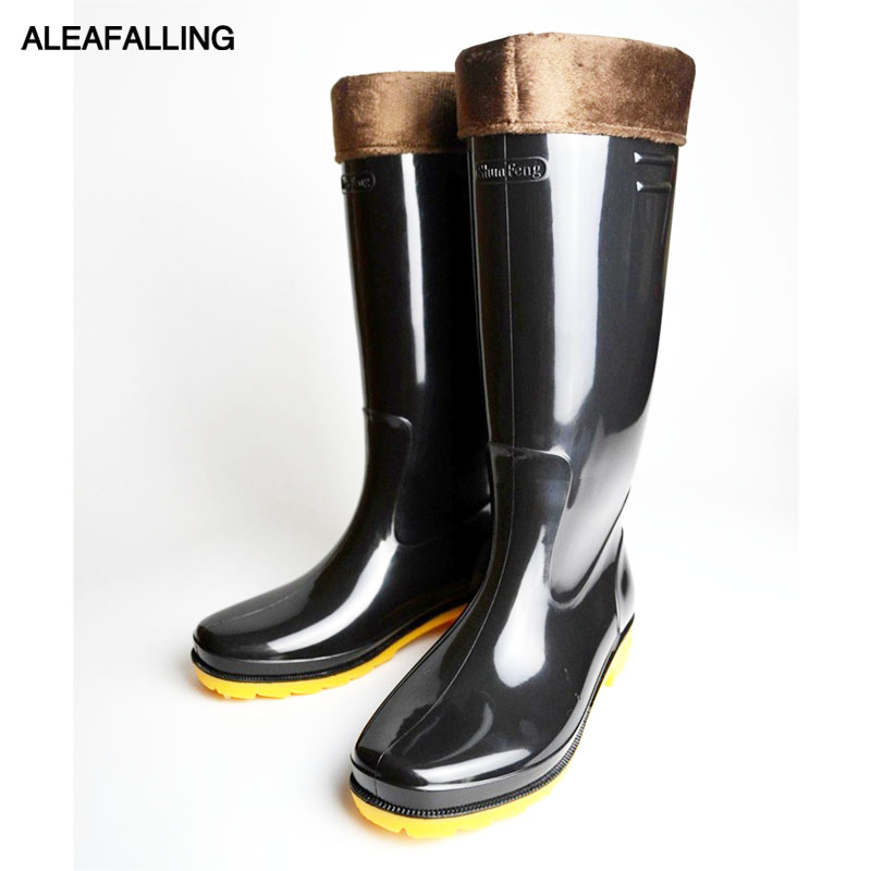 cheap nice shoes release info on US $18.39 20% OFF Aleafalling waterproof rain boots winter shoes men rain  boy's water rubber high tube boots slip on botas thicken or thin m84 on ...