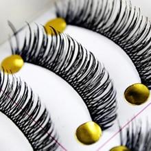 Горячая Распродажа натуральные накладные ресницы 50 пар толстые ресницы макияж Поддельные клей для наращивания ресниц, искусственные ресницы набор для макияжа бровей, Wimpers