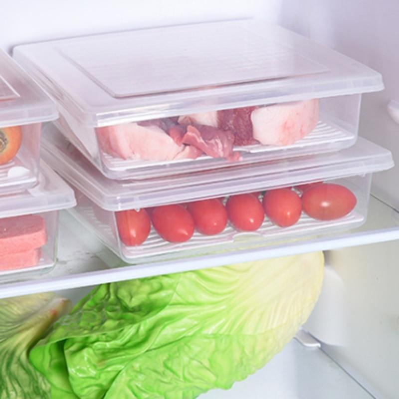 New Kitchen Transparent Plastic Storage Box Grains Beans Storage Contain Sealed Food Container Refrigerator Storage Bin Box