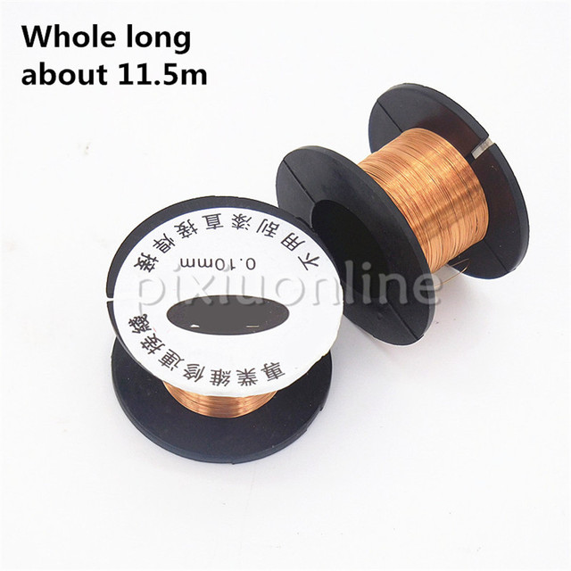 1roll 11.5m DS585b Diameter 01.mm Thin Copper Wire Enamelled Wire ...