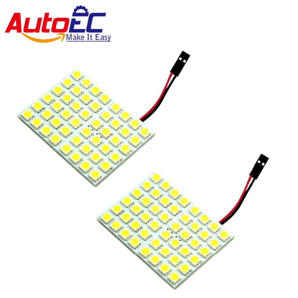 autoec dome panel light 48 smd smd 5050 led car interior interior roof map working. Black Bedroom Furniture Sets. Home Design Ideas