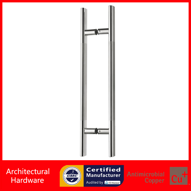 600mm / 24 inches Push-Pull Door Handle Made Of Stainless Steel Pipe For Entrance/Entry/Glass/Shop/Store PA-141-32*600mm antimicrobial environmental wood pull handle pa 710 entrance door handles for entry glass shop store doors