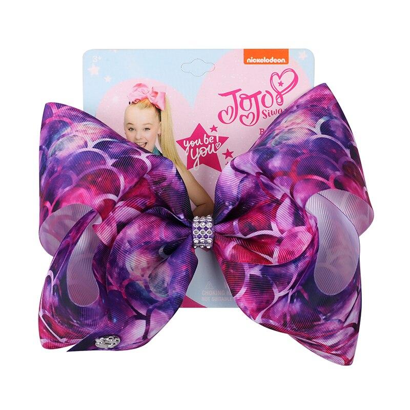 22pcs lot 8 Inch Hair Accessory Jojo Bows for Girls Jojo Siwa Large Mermaid Print Hair