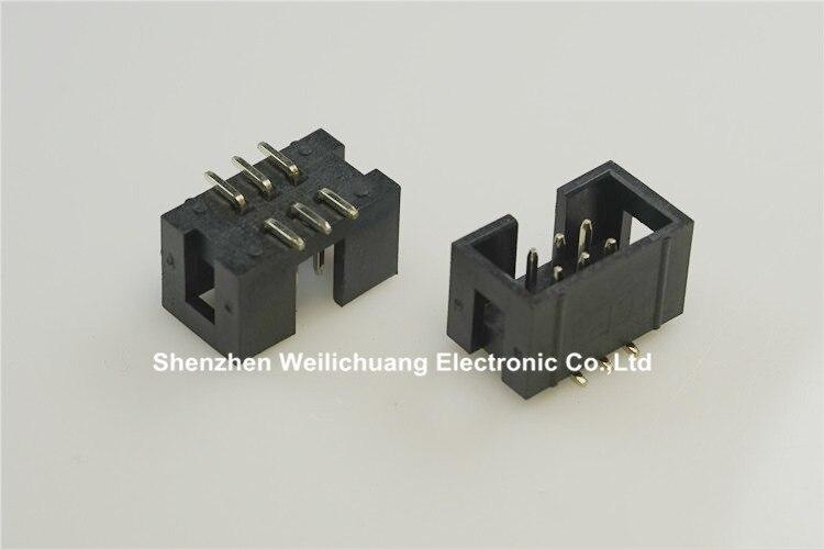 20PCS 2.54mm 2x3 Pin 6PIN Straight Box Header Shrouded header IDC Socket