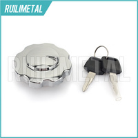 BIKINGBOY CNC Billet Aluminium Cafe Racer Fuel Gas Tank Cap Lock Cover with 2 keys for Honda CG 125 CG125 94 95 96 97 98 99 00