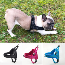 No-Pull Dog Harness Reflective Adjustable Flannel Padded Small medium and large dog harness vest Easy for Walking Training