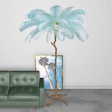 Nordic LED Floor Lmap Romantic Feather Design Living Room Light Landing Lamp 110V 220V Stand Deco