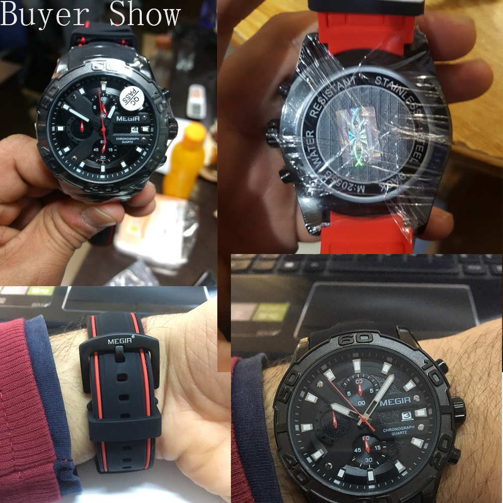 MEGIR Top Marka Luxury Sport Watch Mężczyźni Silikonowy zegarek - Męskie zegarki - Zdjęcie 3