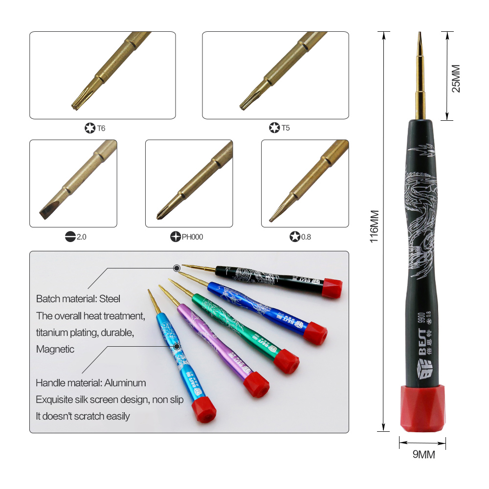 Spedizione gratuita BEST-111 Precsion Kit di riparazione multiuso per - Set di attrezzi - Fotografia 3