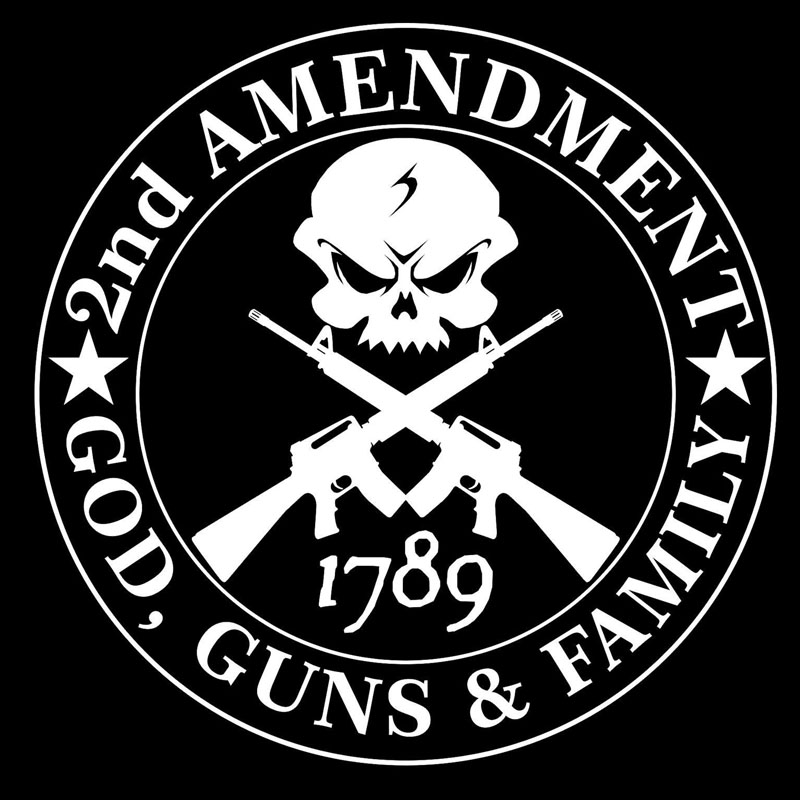 14CMX14CM 2nd AMENDMENT GOD GUNS FAMILY Vinyl Decorative Decal Car Stickers  Black/Silver C1 3169-in Car Stickers from Automobiles & Motorcycles on ...