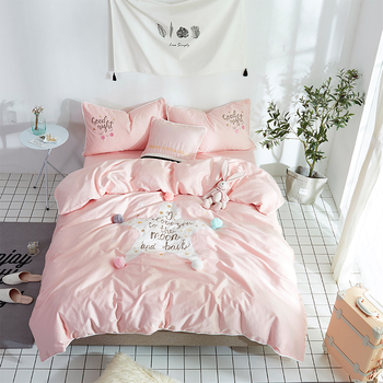 2018 Egyptian cotton Bedding Set Bedclothes Five-pointed star Duvet Cover Bed Sheet Pillowcase twin queen King size