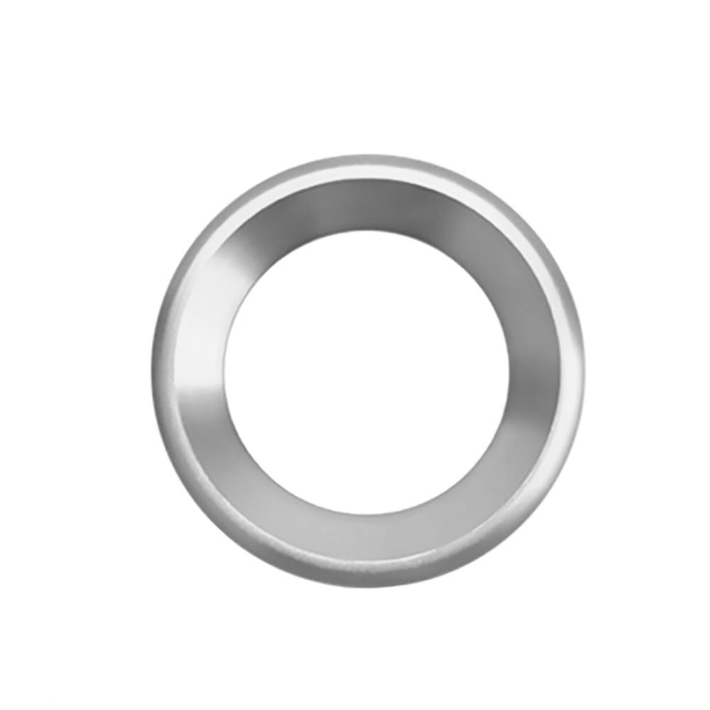 Украшения круг планки громкий динамик анодированный алюминиевый двери автомобиля аудио кольца динамиков планки для Honda Civic - Название цвета: Silver