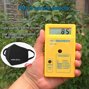 PM2.5 Detector Portable Air Quality Monitor with 9Vbattery for Sharp Sensor Particle Concentration Detector LCD Display Analyzer
