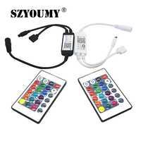 SZYOUMY スマート照明 LED ストリップライトコントローラ無線 Lan IR Bluetooth IR RGB DC4.5V 25V 24 キーリモコン Alexa Google ホー