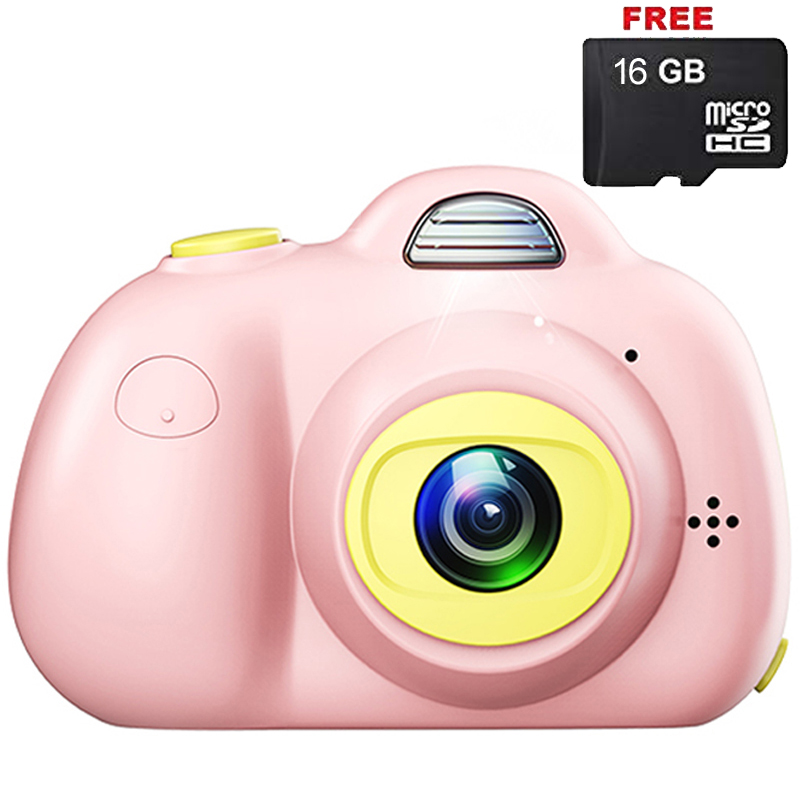 Kids Phone Lens Gifts Shockproof Cameras Great Gift Mini Child Camcorder for Girl Boy with Soft