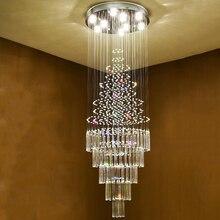 บันไดคริสตัลโคมไฟระย้าคริสตัลโมเดิร์นโคมไฟระย้าไฟโคมไฟภายในLuxury Villa Light Loft Lightโคมไฟตกแต่งบ้าน