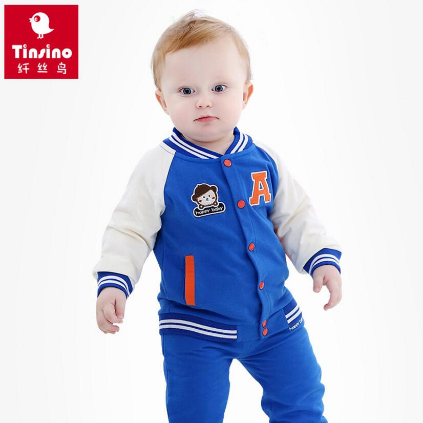 Tinsino Baby Boys Girls Autumn Clothing Sets Sports Sweatshirts Coat + Pants Children Spring Outerwear Clothes Tracksuit Kids spring children girls clothing set brand cartoon boys sports suit 1 5 years kids tracksuit sweatshirts pants baby boys clothes page 2 page 2 page 1