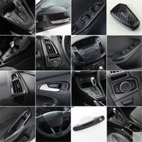 Auto-Styling Getriebe panel tasse halter tür griff lenkrad air vent Dekorative fall Für Ford Focus 3 mk3 2015-2018