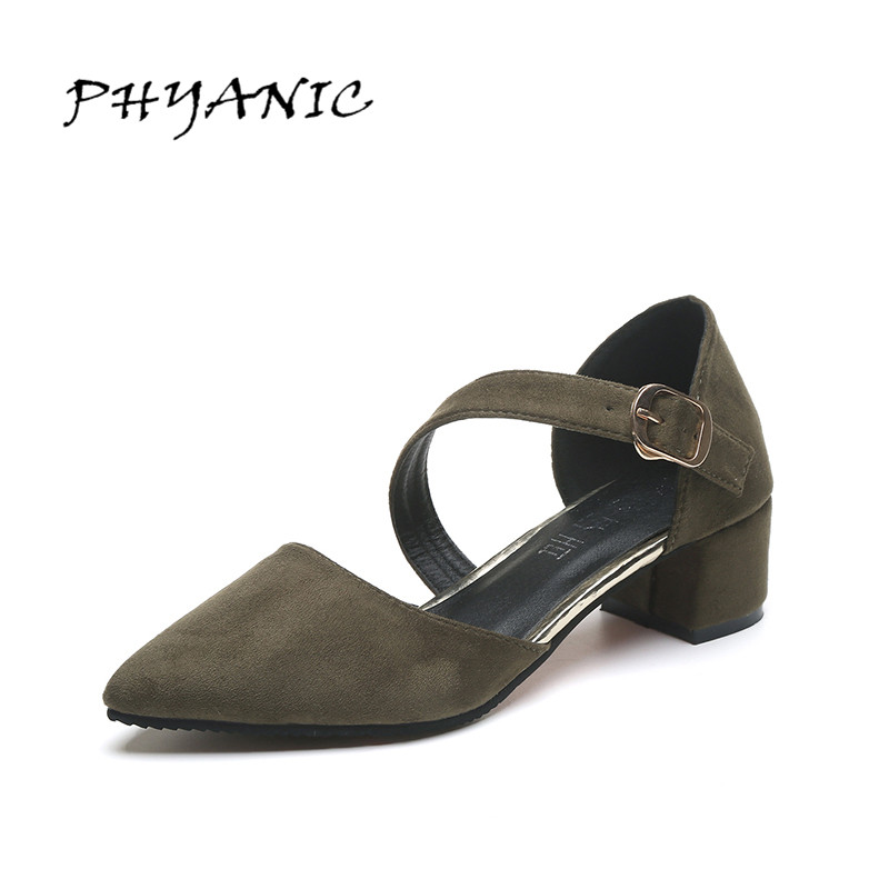 PHYANIC Sexy Buckle Close Toe Gladiator Sandals 2017 Women High Heels Platform Shoes Woman Sandals Summer Wedding Party Shoes phyanic 2017 summer gladiator sandals straw platform creepers silver shoes woman buckle casual women flats shoes phy4046