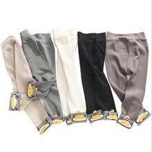 Новые леггинсы для девочек от 2 до 4 лет весенне-осенние детские штаны, одежда леггинсы принцессы с уткой, брюки Узкие штаны для малышей