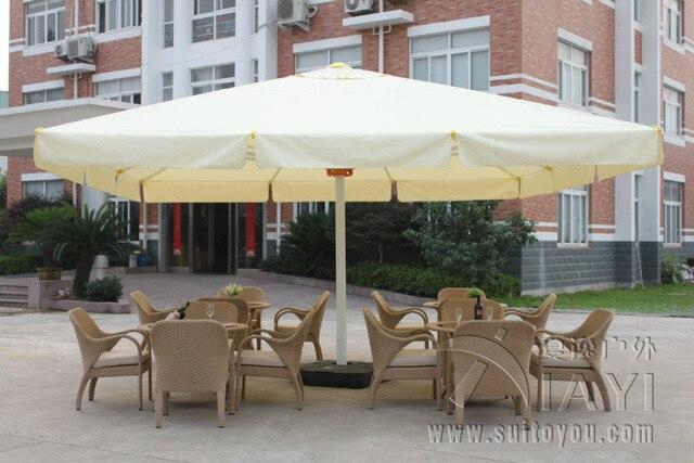 Attrayant 5 Meter Square Deluxe Aluminum Big Outdoor Patio Sun Umbrella Parasol  Sunshade Furniture Covers With Cross