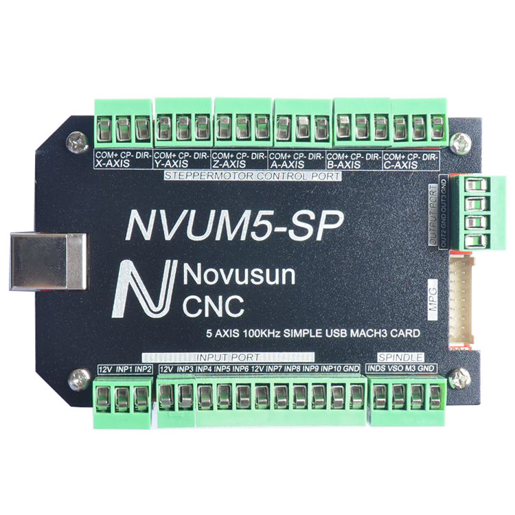 NVUM5-SP USB MACH3 Interface Board Card 5-Axis CNC Controller 100KHz for Stepper Motor кабели apple кабель md818zm a usb lightning белый 1м md818zm a